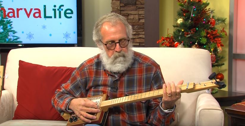 Stan Opiel of Chincoteague, Va. Shows Us How to Make a Cigar Box Guitar