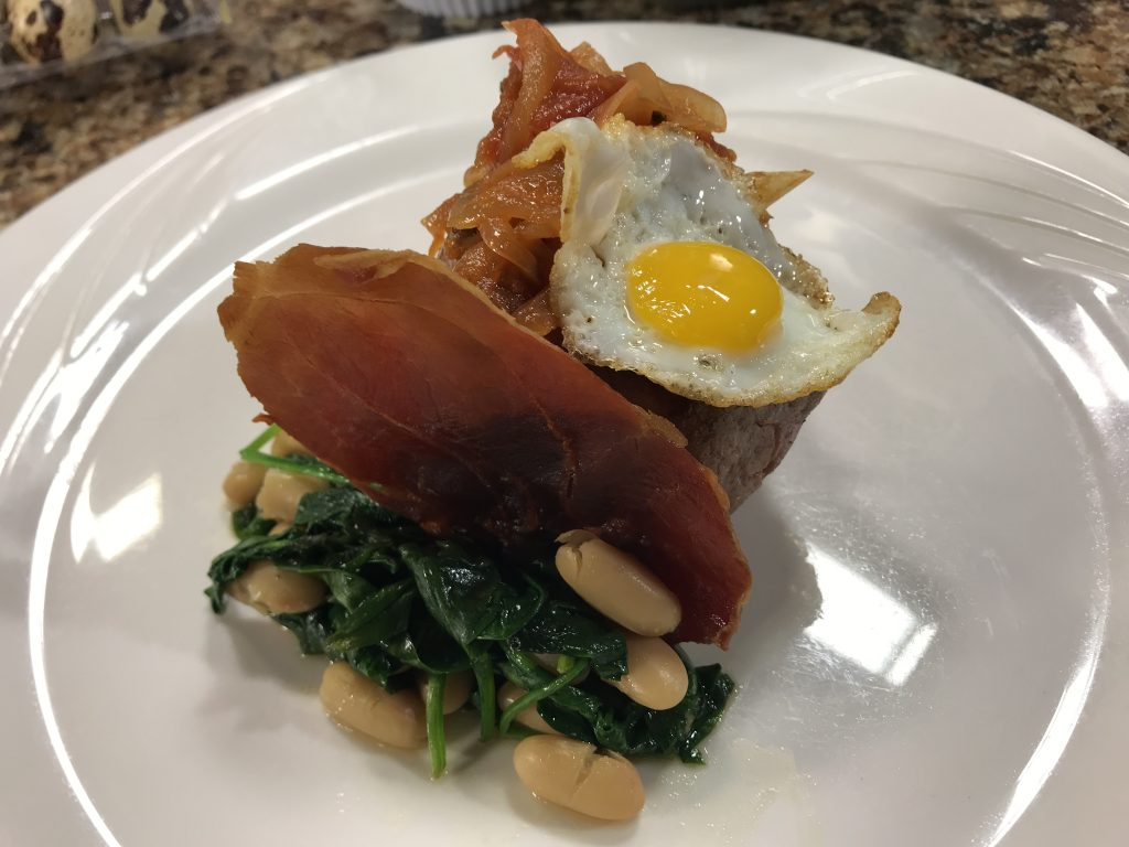 Seared Steak and Quail Eggs with Market Street Inn
