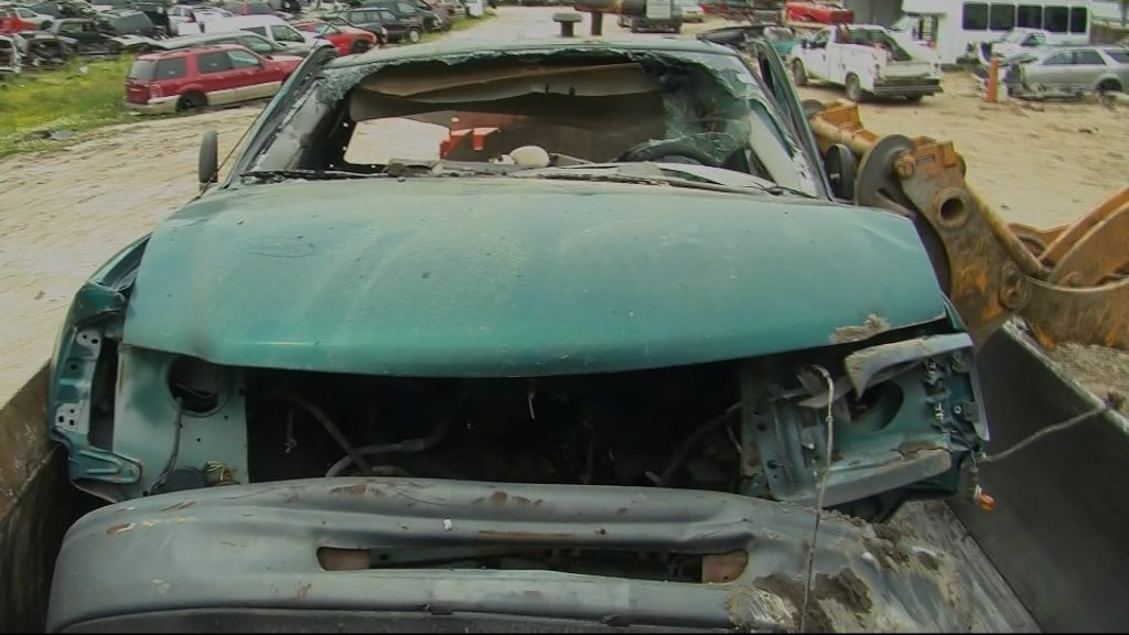 Travels With Charlie: Crushing Cars at Salvage Yard