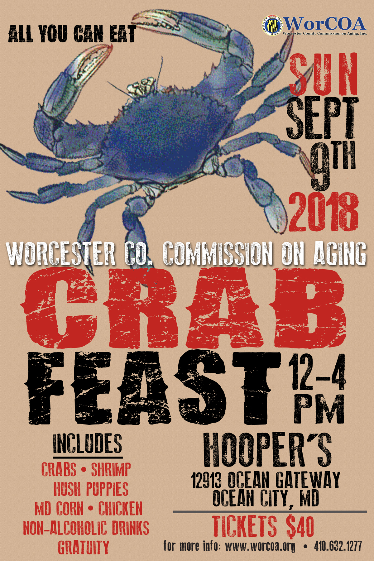 crab feast fundraiser for the worcester county commission on aging