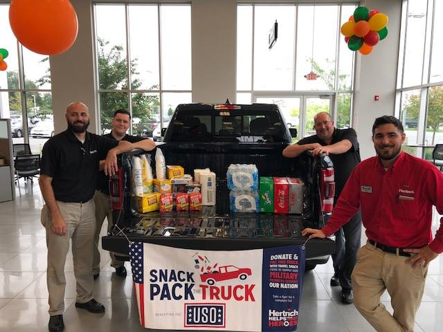 Hertrich 'Snack Pack the Truck' Event Benefiting USO