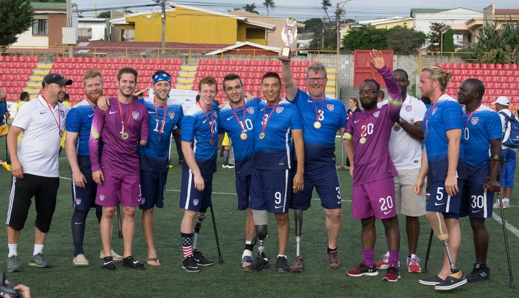 Playing Soccer with Goalkeeper for USA's Amputee Soccer World Cup Team