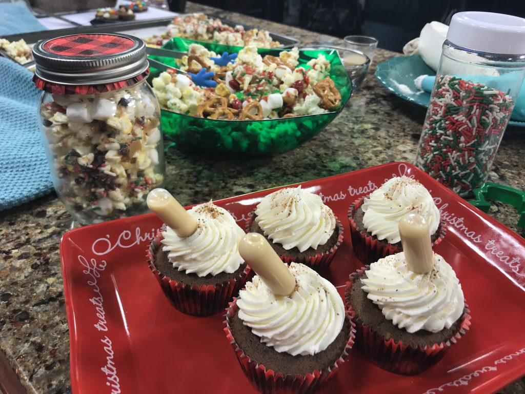 Gingerbread Spice Snack Cake and Holiday Snack Mix with A+ Cakes