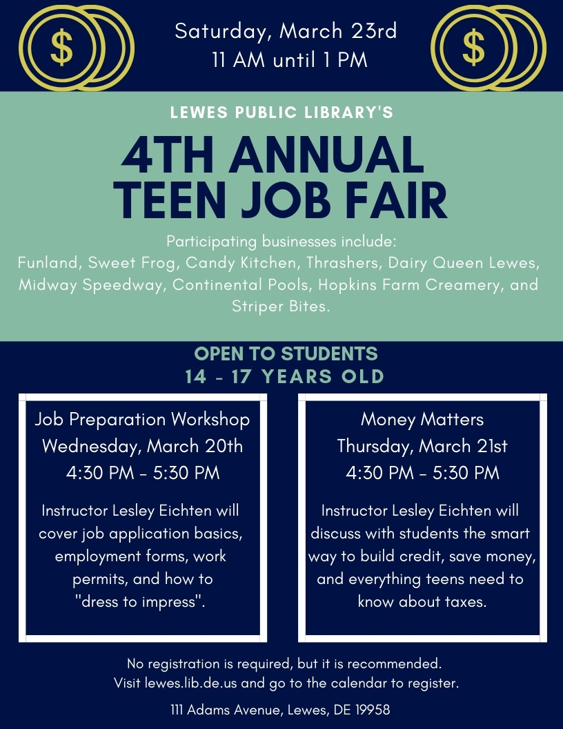 Teen Job Fair Preparation Workshop Delmarvalife