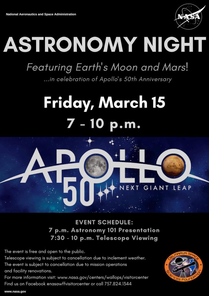 Astronomy Night at NASA Wallops Flight Facility, March 15