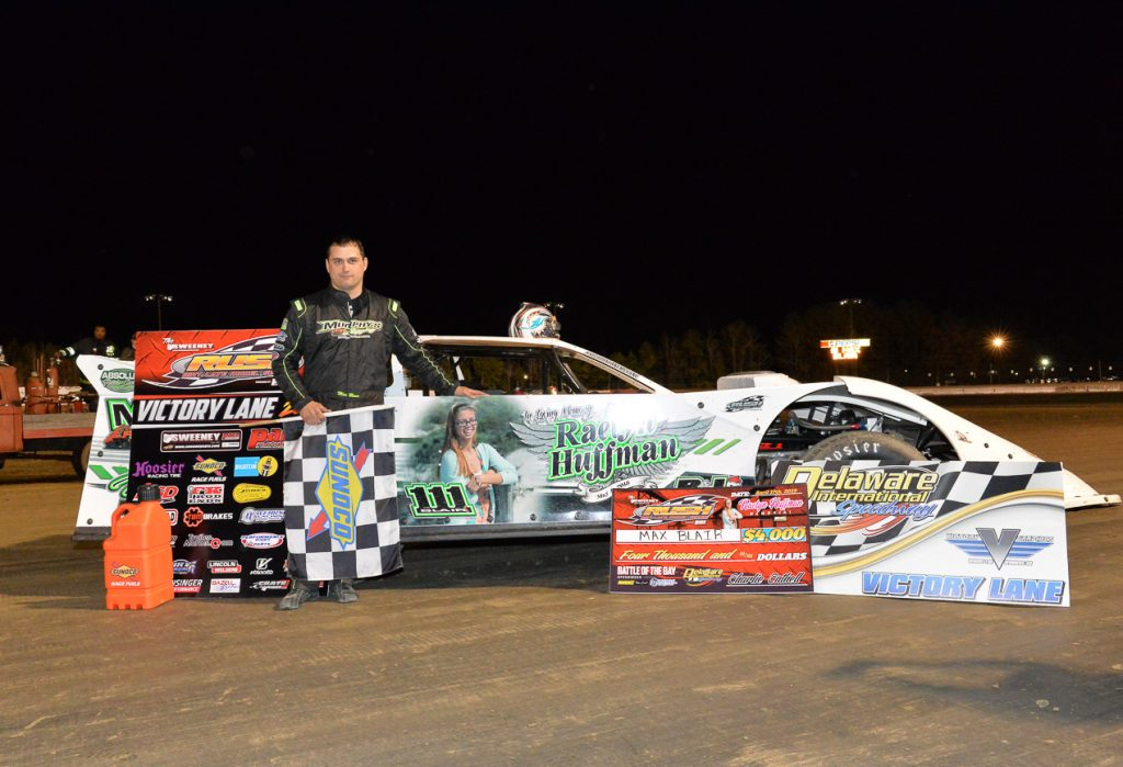 Blair Takes Win at Raelyn Huffman Memorial Race at Delaware International Speedway