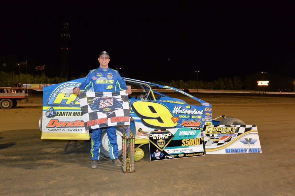 Sheppard Takes the Win for Big Block Modifieds at the Diamond State 50 Race, Delaware International Speedway
