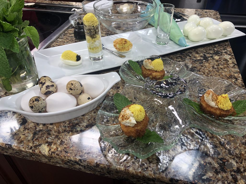 Fried Deviled Eggs with a Surprise with Chef Deborah Lee Walker