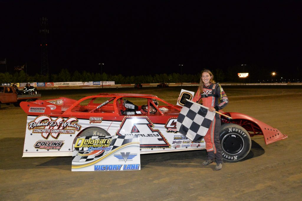 Whaley Takes the Win in Super Late Models on William and Juanita J. Cathell Memorial Night at Delaware International Speedway