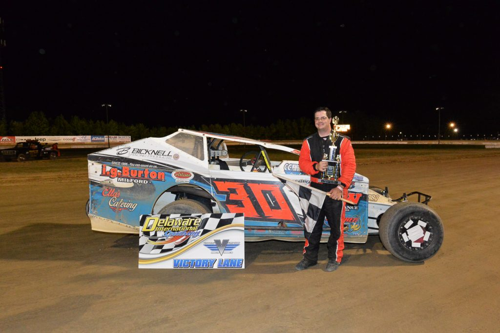 Watson Picks Up HAS Big Block Modified Victory on Dave and Lou White Memorial Night at Delaware International Speedway