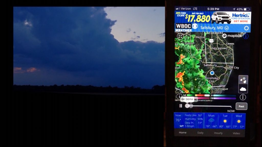Travels With Charlie: WBOC Weather App & Lightning Storm