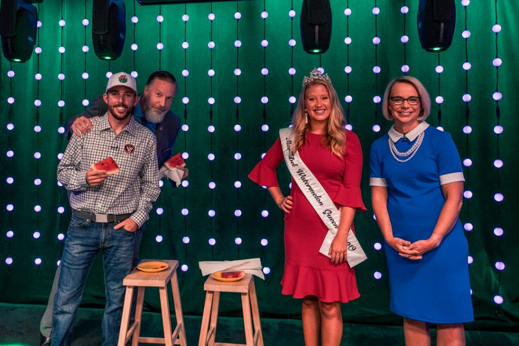 Watermelon Seed Spitting Contest Puts Jimmy & Lisa Against Watermelon Queen & NASCAR Driver