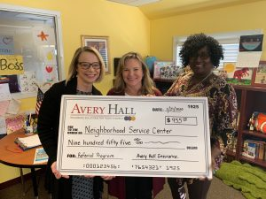Avery Hall Cares Program Helping Out The Neighborhood Service Center in Easton
