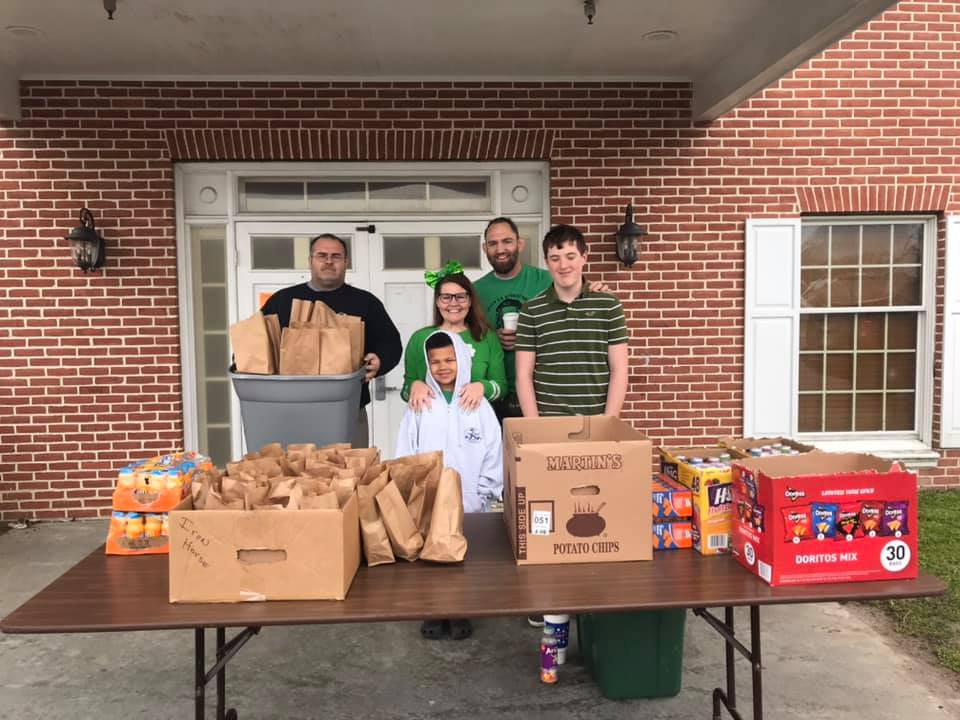 Donated Food is Distributed to Local School Children