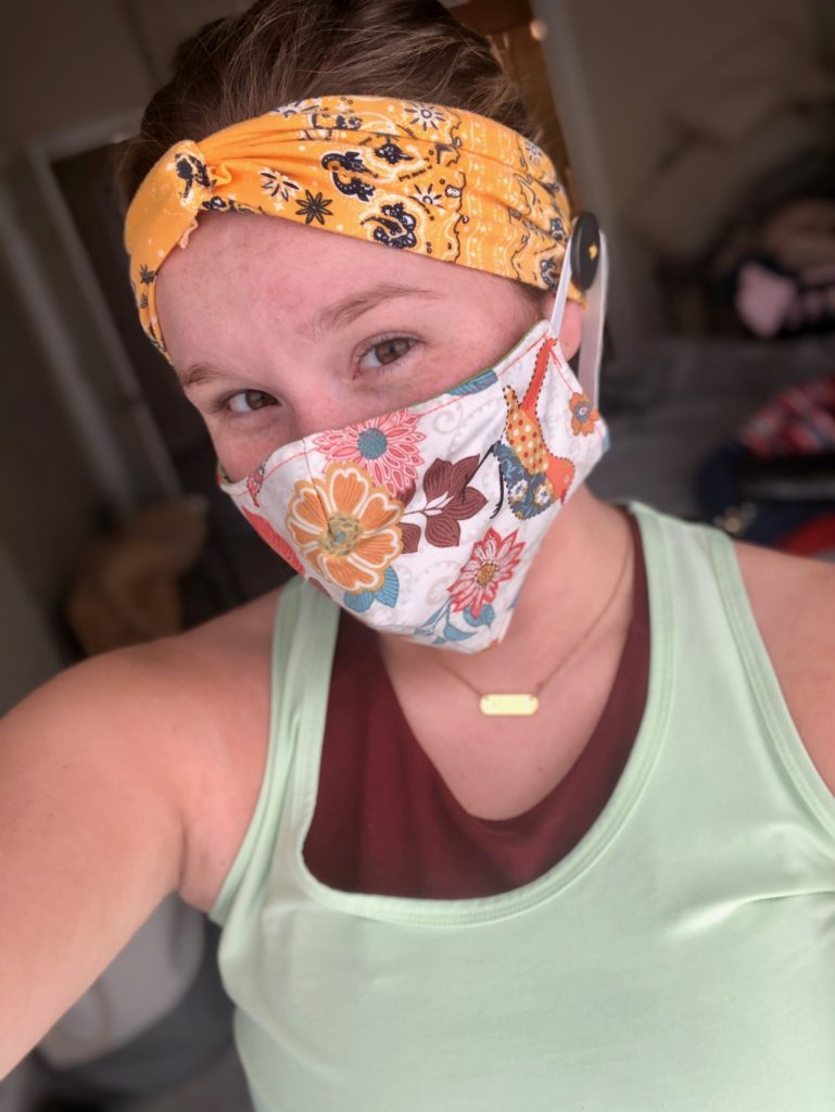 Local Woman Makes Headbands for Healthcare Workers