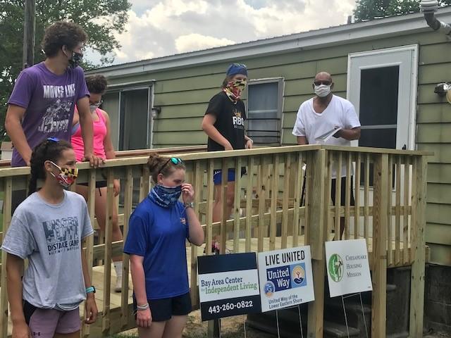 Chesapeake Housing Mission Building 500th Wheelchair Ramp