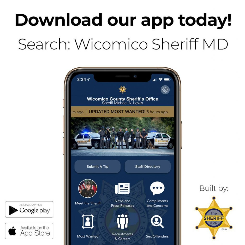 Wicomico Sheriff's Office Launches New App