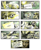 Anti-drug campaign storyboard
