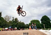 SEB toboggan st george jam 2003. he has been buildin all the wooden spines at st george for the last 9yrs and still shreds it on a bmx BIG UP BCR
