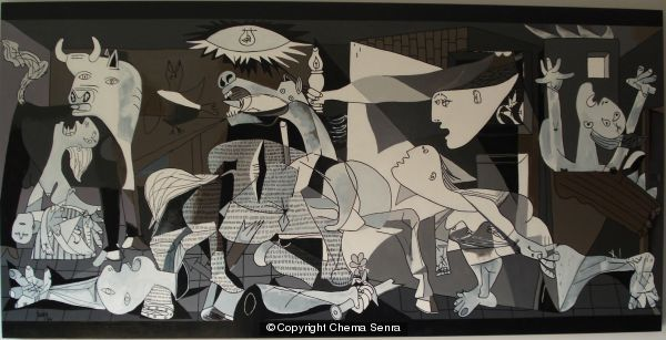 Guernica acrylic on wood for Mural guernica