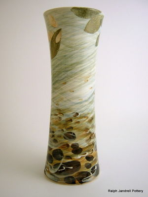 Large waisted vase- River design