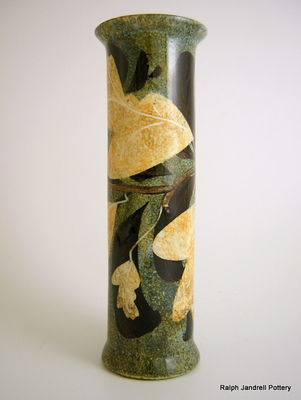 Large cylinder vase- Foliage design