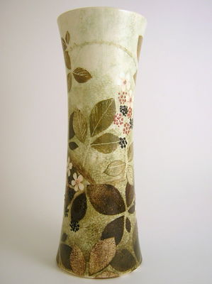 Large cylinder vase- Bramble design