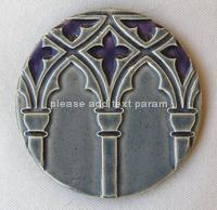 Venetian Arches Coaster - Purple