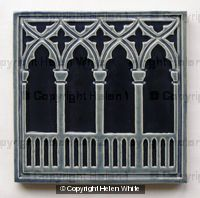 Venetian Arches Tile - Navy