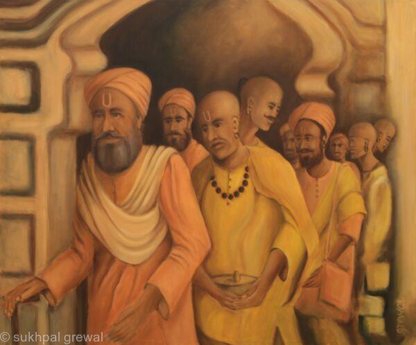 Saffron Oil Painting