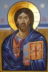 Sinai Christ Icon (painted at St Catherine's Monastery Dec 2011)