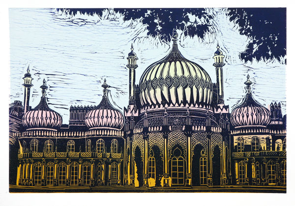 The Royal Pavilion Brighton Linocut Print