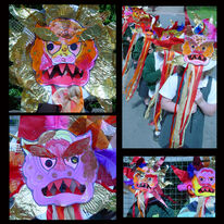 chinese dragon mask making