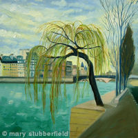 Willow tree by the Seine
