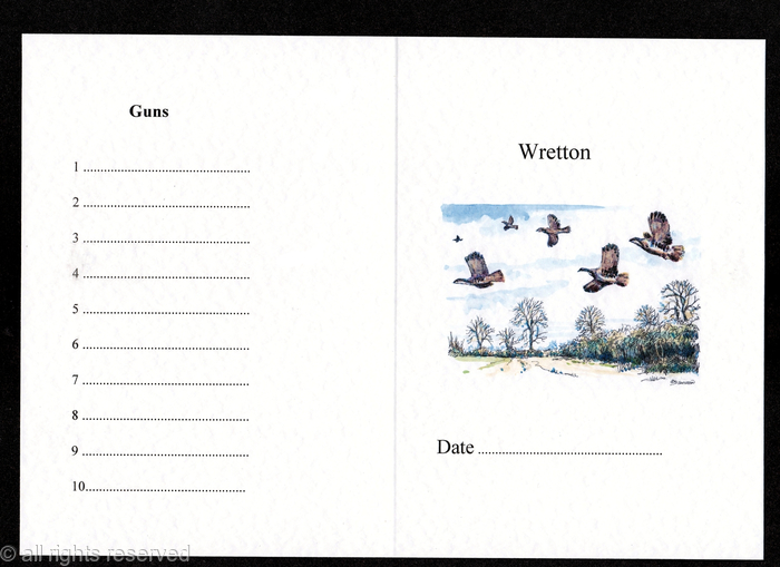 Example Of A Shoot Card With Cuvvy Partridge