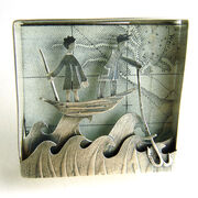 Seeking shoals off distant shores brooch/wall piece