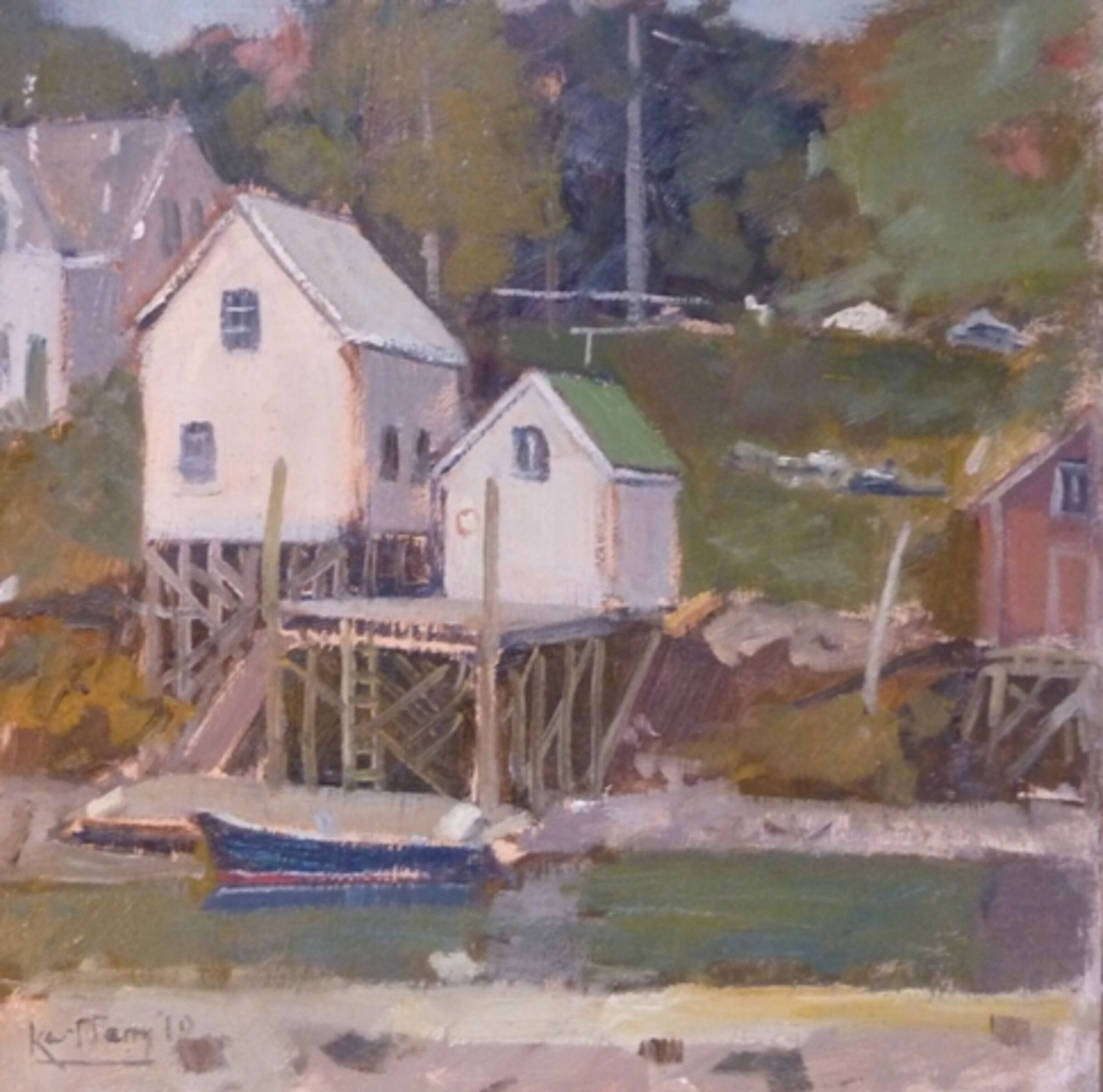 Lobster shacks, Cosy Harbour, Boothbay, Maine