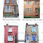 The Beatles' Four Houses, Liverpool