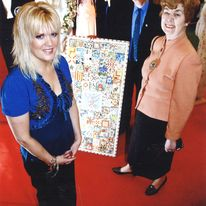 Mosaic for The Martletts Hospice, in Brighton, a gift made by myself and members of the Public from The Stitche s Show