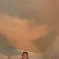 Angel Rosie in our Royal Room, if you look up at the ceiling you will see our 2 baby cherubs looking down at you.