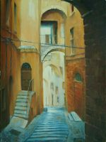 An alley in Montepulciano