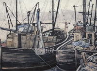 Trawlers on the Tyne; 1959
