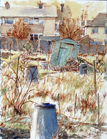 Allotment II: the leaning shed