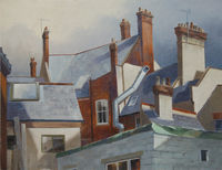 Sunlit chimneys