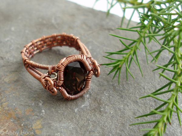 Spiral Bezel Smokey Quartz Ring