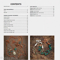 Wire Jewelry Masterclass - Contents page 1