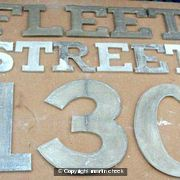 130 Fleet Street: Lettering