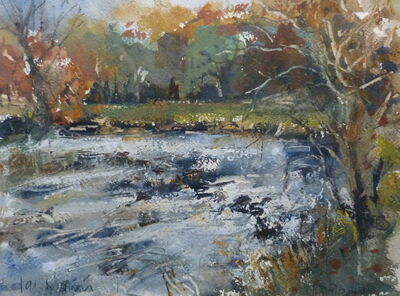 Ribble near West Bradford-Autumn