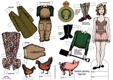 Land Girls paper doll