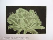 Cool Cystal Aquatint Etching Green